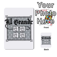 El Grande Cartes Actions En Francais By Plastic77   Multi Purpose Cards (rectangle)   Flvmm9alswjy   Www Artscow Com Back 35