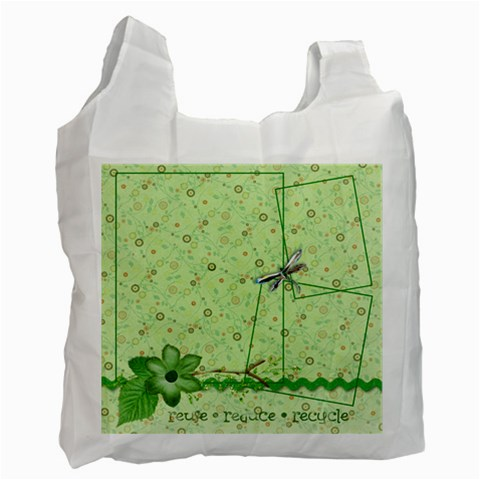 Green Bag, 1 Side (3) By Mikki   Recycle Bag (one Side)   P9u9lavdr02d   Www Artscow Com Front