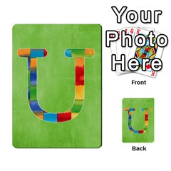 Boys Abc Cards ,flash And Memory Game  By Brookieadkins Yahoo Com   Multi Purpose Cards (rectangle)   Yc23agrgdra9   Www Artscow Com Front 21