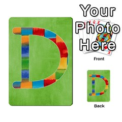 Boys Abc Cards ,flash And Memory Game  By Brookieadkins Yahoo Com   Multi Purpose Cards (rectangle)   Yc23agrgdra9   Www Artscow Com Front 4