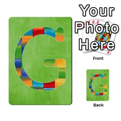 Boys Abc Cards ,flash And Memory Game  By Brookieadkins Yahoo Com   Multi Purpose Cards (rectangle)   Yc23agrgdra9   Www Artscow Com Front 33