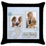 our baby - Throw Pillow Case (Black)