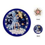 Aquarius Zodiac playing Cards - Playing Cards (Round)