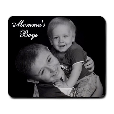 Momma s Boys Mousepad By Jennifer   Large Mousepad   Eyhefw9ob6fn   Www Artscow Com Front