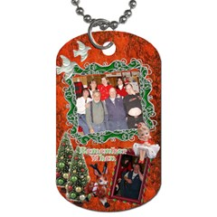 Christmas Remember When Dog Tag By Ellan   Dog Tag (two Sides)   Qdal4hisseef   Www Artscow Com Front