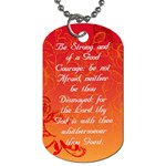 YM/YW dog tag - Dog Tag (One Side)