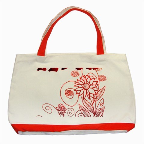Bolso Rojo By Lydia   Classic Tote Bag (red)   Li0xplhzqhyy   Www Artscow Com Front