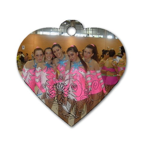 Tiff By Lydia   Dog Tag Heart (one Side)   9uuak2n7rskl   Www Artscow Com Front