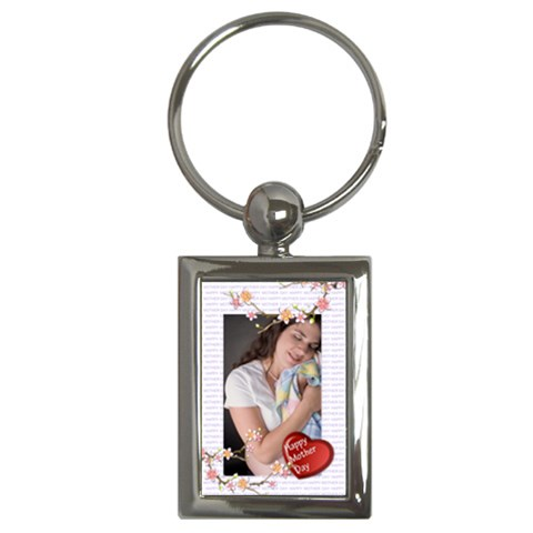 Happy Mother Day By Wood Johnson   Key Chain (rectangle)   Uc8crn6hf4ya   Www Artscow Com Front