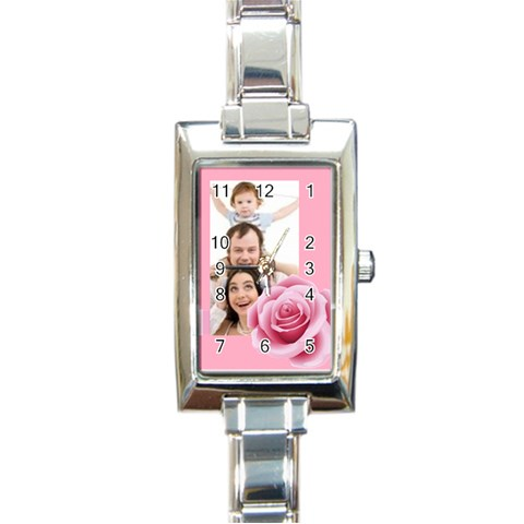 Mother Gift By Joely   Rectangle Italian Charm Watch   0j3x8ve2dt34   Www Artscow Com Front