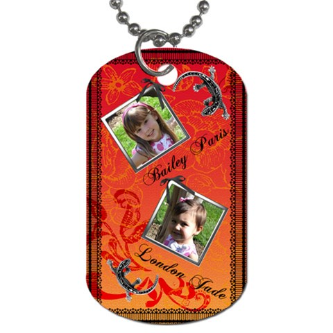 Girls Dogtag2 By Christy Fralin   Dog Tag (one Side)   Mims8sab2zo8   Www Artscow Com Front