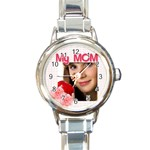 my mom - Round Italian Charm Watch