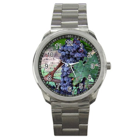 Grapes Watch By Sheree Vogt   Sport Metal Watch   6m958l3dszho   Www Artscow Com Front