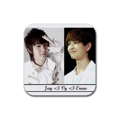 Jay And Onew :p By Vy   Rubber Coaster (square)   Yzfzygugtsze   Www Artscow Com Front