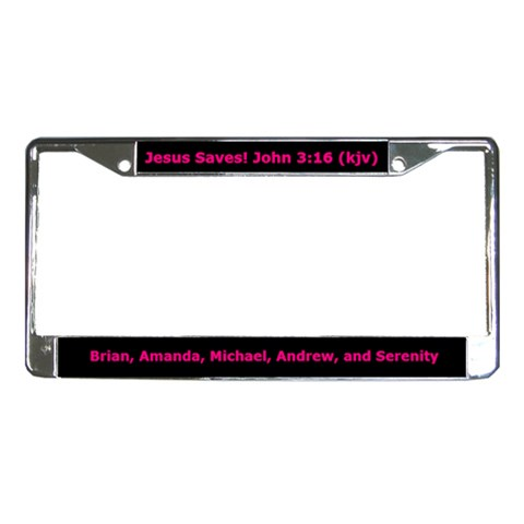 Plate By Amanda   License Plate Frame   8t7wsjts7i3m   Www Artscow Com Front