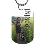 panini tag - Dog Tag (One Side)