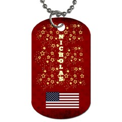 Nicholas Frame Tag By Leanna   Dog Tag (two Sides)   Kmxk0o02v1p8   Www Artscow Com Front