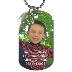 Dallin s Dog Tag By Stephanie   Dog Tag (two Sides)   Xhio6f19ndje   Www Artscow Com Front
