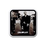 coldplay coasters - Rubber Coaster (Square)