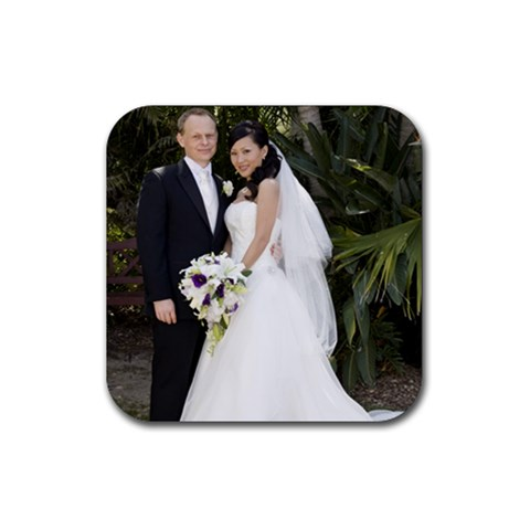 J&d Wedding Coaster By Dandan   Rubber Coaster (square)   617azqskgd6x   Www Artscow Com Front