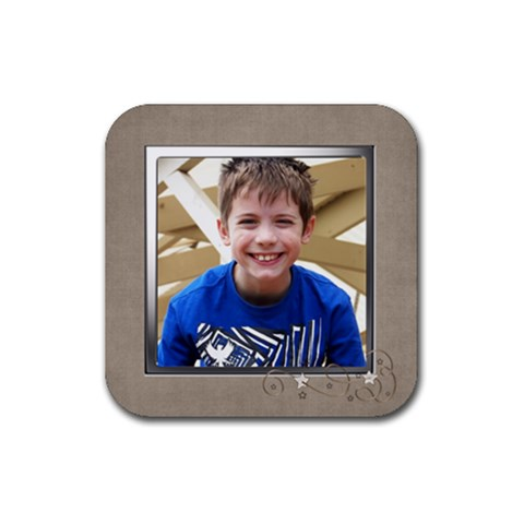 Tom2 Coaster By Fiona    Rubber Coaster (square)   B3c4srjrrvp7   Www Artscow Com Front
