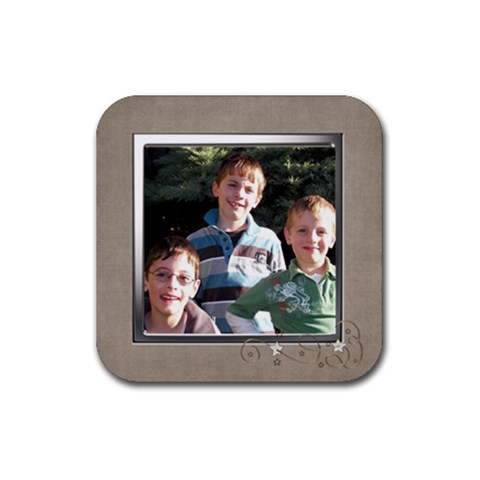 Boys Coaster By Fiona    Rubber Coaster (square)   Em5l62pob3rd   Www Artscow Com Front