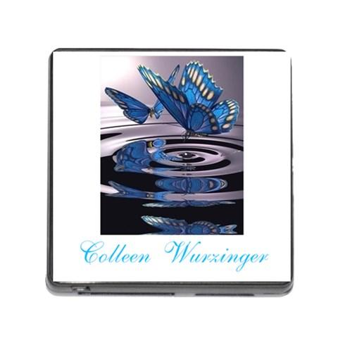 Butterflies By Angelique Musick   Memory Card Reader (square 5 Slot)   P8cxp7shdkdu   Www Artscow Com Front