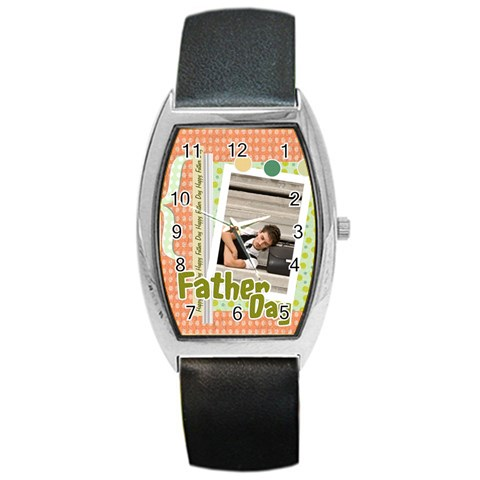 Father Day By Wood Johnson   Barrel Style Metal Watch   Bovj2iv6pdcr   Www Artscow Com Front
