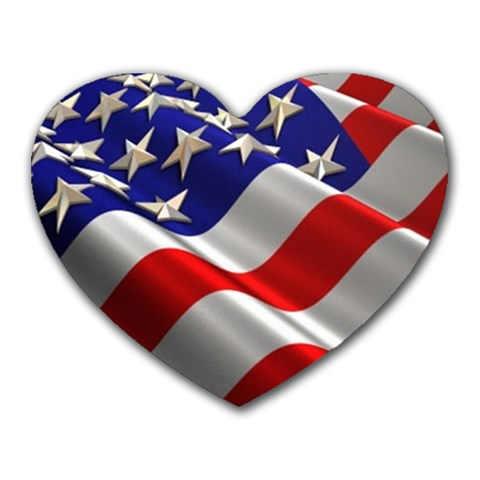 Flag By Kim Vanderpool   Heart Mousepad   1ey700xb7m0t   Www Artscow Com Front