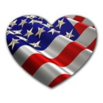 flag - Heart Mousepad