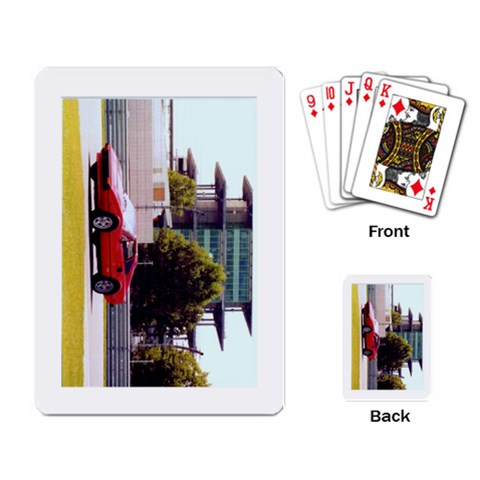 Tami & I On The Indy Speedway Road Course By Cindysjim   Playing Cards Single Design   Dneqqnbn8ix7   Www Artscow Com Back