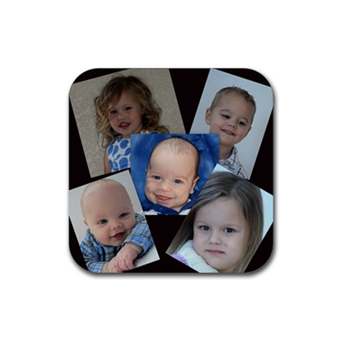 4 By Lindsey   Rubber Square Coaster (4 Pack)   T18kbwxjpgwd   Www Artscow Com Front