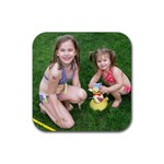 girls coasters - Rubber Coaster (Square)