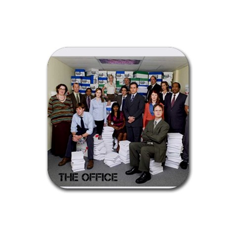 The Office Coasters By Mallory   Rubber Coaster (square)   Kfu60uvhxrhp   Www Artscow Com Front