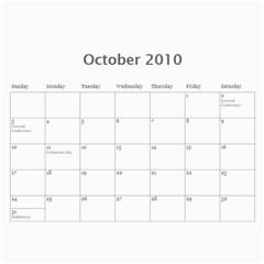 2010calendar By Rachel   Wall Calendar 11  X 8 5  (18 Months)   Gi1zi4fi2f5d   Www Artscow Com Oct 2010