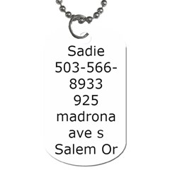 Sadie By Carol   Dog Tag (two Sides)   D68cv08bjsqg   Www Artscow Com Back