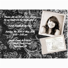 Sarah Grad Card By Kristen   5  X 7  Photo Cards   Nydx5msuyeji   Www Artscow Com 7 x5 Photo Card - 1