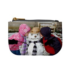 Coin Purse Kids And Snowman By Faith Hale   Mini Coin Purse   1hhvewmz5vl4   Www Artscow Com Front