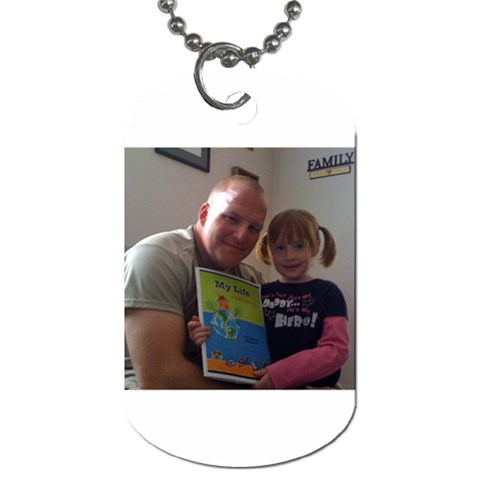 Loral s Daddy Dogtags!  By Cheryl Moore   Dog Tag (one Side)   Pjh3jwzcm6hy   Www Artscow Com Front