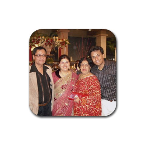 Family By Ankit Raheja   Rubber Coaster (square)   3j7dgd1gsbzm   Www Artscow Com Front