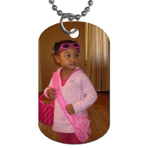 The Diva Ready To Roll  By Aldonna P Powell   Dog Tag (one Side)   Nvwn7ck0dsq0   Www Artscow Com Front