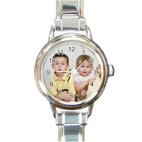 My Kids Watch By Andrea   Round Italian Charm Watch   8ajq4cptxmc0   Www Artscow Com Front