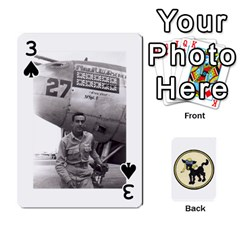 Dads Wwii Deck By Matt   Playing Cards 54 Designs   Vu00sztcu18g   Www Artscow Com Front - Spade3