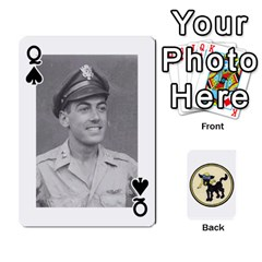 Queen Dads Wwii Deck By Matt   Playing Cards 54 Designs   Vu00sztcu18g   Www Artscow Com Front - SpadeQ