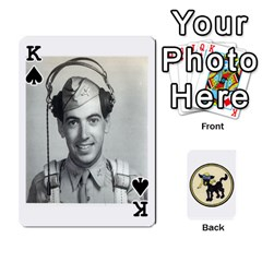 King Dads Wwii Deck By Matt   Playing Cards 54 Designs   Vu00sztcu18g   Www Artscow Com Front - SpadeK