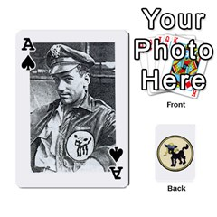 Ace Dads Wwii Deck By Matt   Playing Cards 54 Designs   Vu00sztcu18g   Www Artscow Com Front - SpadeA