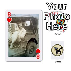 Dads Wwii Deck By Matt   Playing Cards 54 Designs   Vu00sztcu18g   Www Artscow Com Front - Heart8
