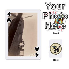 Dads Wwii Deck By Matt   Playing Cards 54 Designs   Vu00sztcu18g   Www Artscow Com Front - Spade4