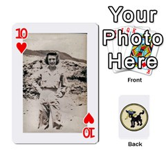 Dads Wwii Deck By Matt   Playing Cards 54 Designs   Vu00sztcu18g   Www Artscow Com Front - Heart10