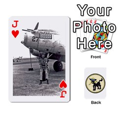 Jack Dads Wwii Deck By Matt   Playing Cards 54 Designs   Vu00sztcu18g   Www Artscow Com Front - HeartJ